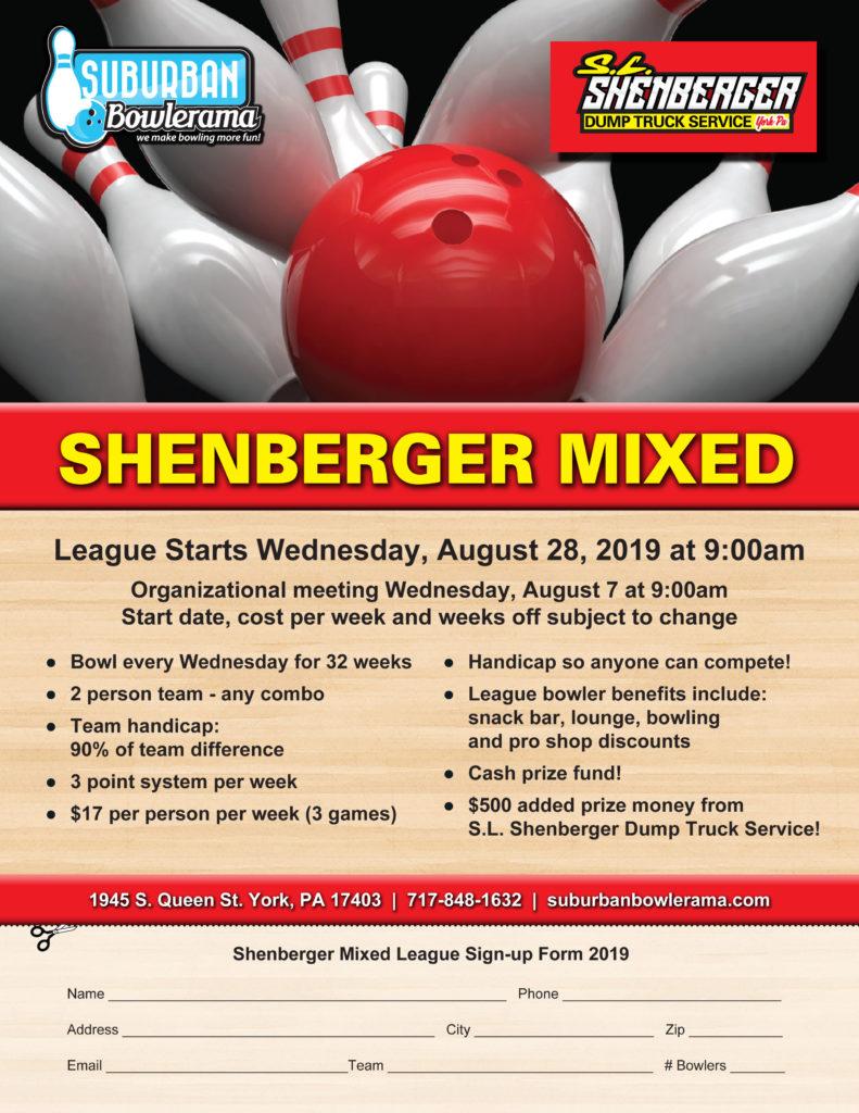 League Bowling   Suburban Bowlerama   York, PA
